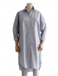 <br>詹姆斯条纹衬衫连衣裙<br> <b><font color=#6b0e04>上述产品的连衣裙1</font></b>