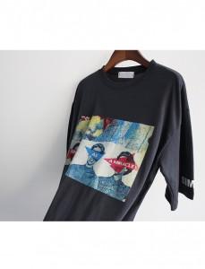 <br>三似乎印花T恤<br><br>